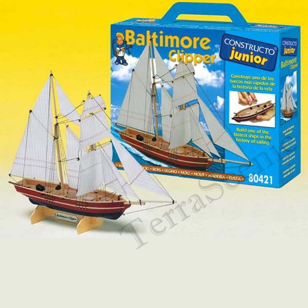 Wooden Model Ship Kit Constructo Junior Baltimore Clipper 80421